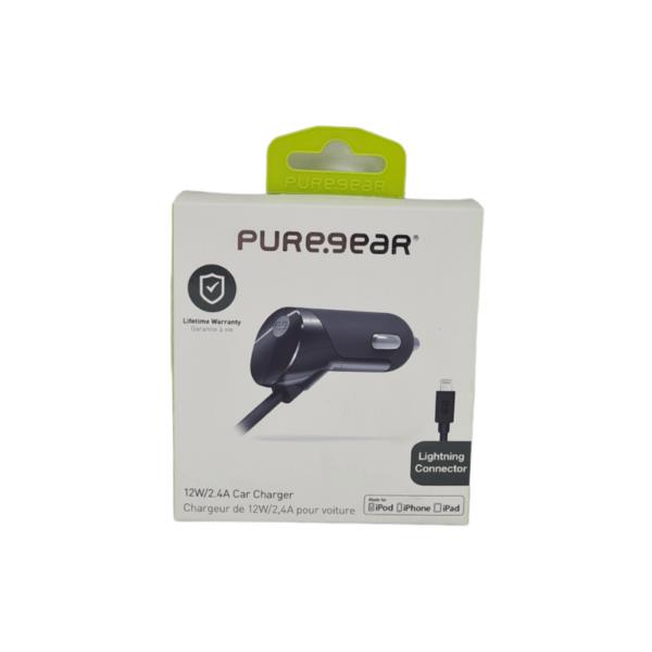 מטען רכב מהיר Lightning של PureGear
